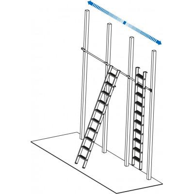Полочная лестница со ступеньками, подвесная - Фото № 2