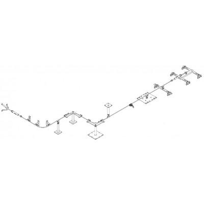 Стационарная тросовая система горизонтальной страховки INNOTECH ALLinONE AIO для крыши - Фото № 2