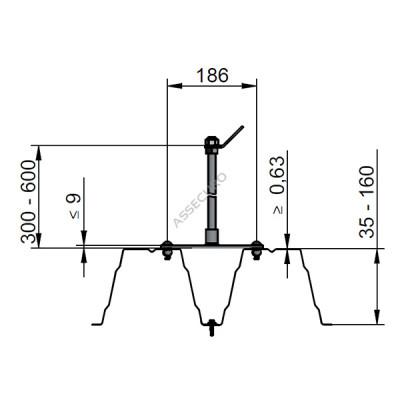 Комплект для крепления стойки INNOTECH Quadrat 13 / для трапециевидного лиса / BEF-307 - Фото № 2