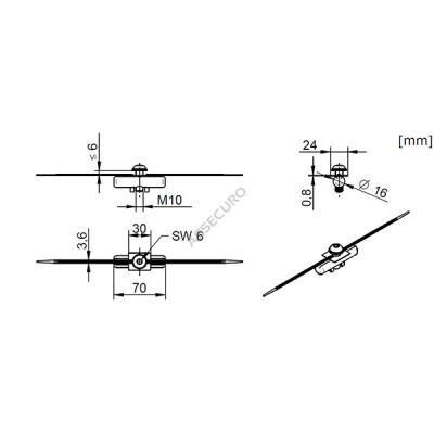 Комплект для крепления стойки INNOTECH Quadrat 13 / для трапециевидного лиса / BEF-307 - Фото № 3
