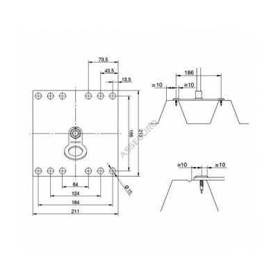 Столбик INNOTECH Quadrat 13 / h = 300 мм / без винтов / EAP-QUAD-13-300 - Фото № 2