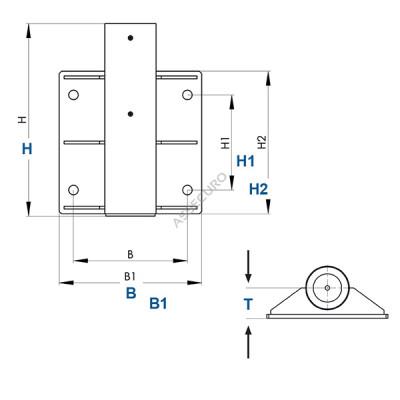 Крепление консольного анкерного устройства IKAR к стене/ AT4157/2 - Фото № 2
