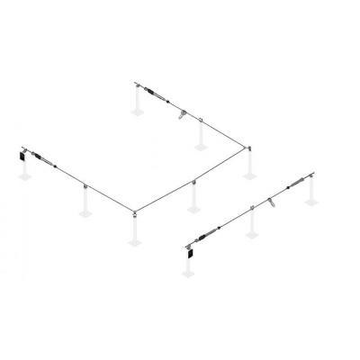 Стационарная тросовая система горизонтальной страховки INNOTECH ALLinONE AIO для металлоконструкций - Фото № 6