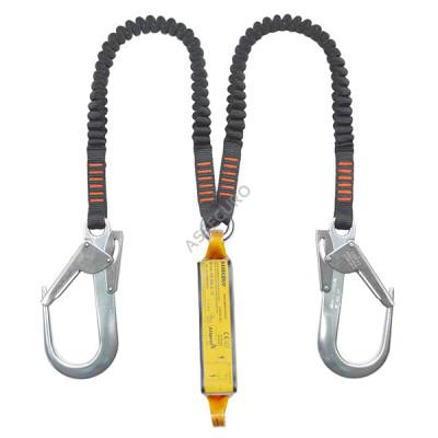 Строп двойной из эластичной ленты с амортизатором и карабинами 2xAJ591 / 1,8м / CE2052L F2
