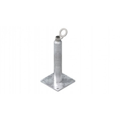 Столбик статический INNOTECH STABIL 10 / h = 400 мм / бетон, дерево, сталь / EAP-STABIL-10-400
