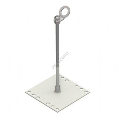 Столбик INNOTECH Quadrat 13 / h = 400 мм / без винтов / EAP-QUAD-13-400 - Фото № 1
