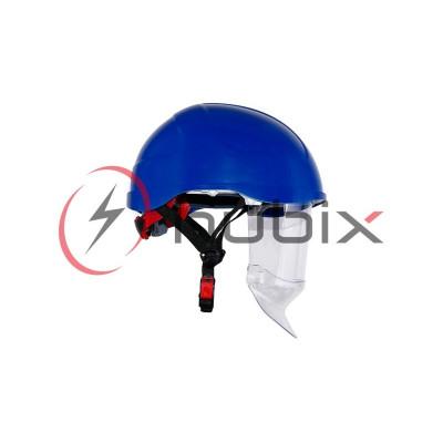 Каска HUBIX SECRA электроизоляционная со щитком / синяя / H058/S/B