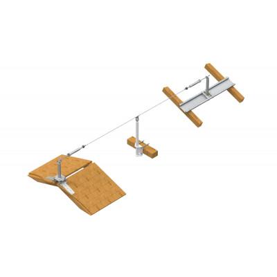 Стационарная тросовая система горизонтальной страховки INNOTECH ALLinONE AIO для деревянной поверхности - Фото № 1