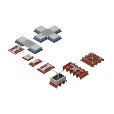 Стационарная тросовая система горизонтальной страховки INNOTECH ALLinONE AIO для крыши - Фото № 1