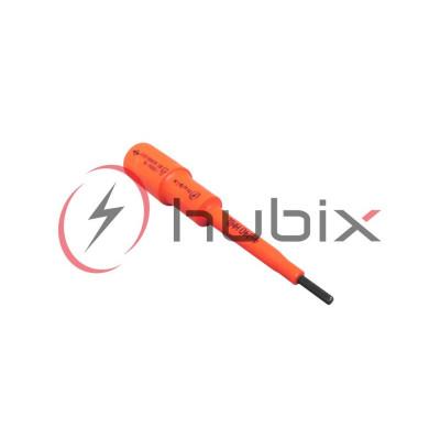 Насадка изолированная шестигранная HUBIX 4мм L=140мм / HNIL-4-140