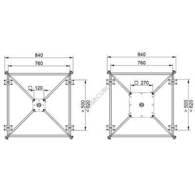 Опорная рама для стойки INNOTECH STABIL / для трапециевидного листа / BEF-303 - Фото № 4