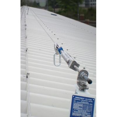 Стационарная тросовая система горизонтальной страховки INNOTECH ALLinONE AIO для крыши - Фото № 3