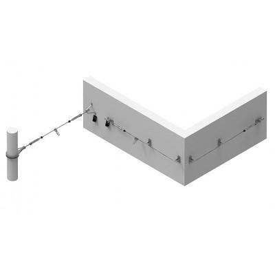 Стационарная тросовая система горизонтальной страховки INNOTECH ALLinONE AIO для деревянной поверхности - Фото № 2