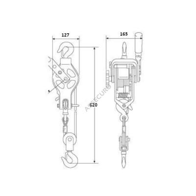 Подъемник ручной рычажный с блочком SVERO / AG006