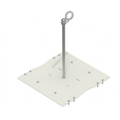 Столбик INNOTECH Quadrat 12 / для трапециевидного листа / h = 500мм / винты в комплекте/ EAP-QUAD-12-500 - Фото № 1