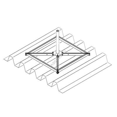 Опорная рама для стойки INNOTECH STABIL / для трапециевидного листа / BEF-303 - Фото № 5