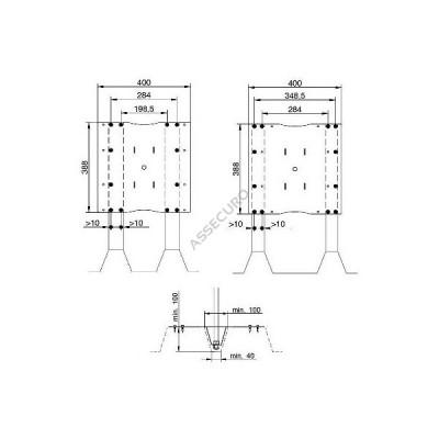 Столбик INNOTECH Quadrat 12 / для трапециевидного листа / h = 500мм / винты в комплекте/ EAP-QUAD-12-500 - Фото № 2