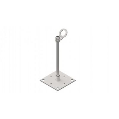 Столбик INNOTECH Quadrat 10 / сталь, бетон / h = 400 мм / без винтов/ EAP-QUAD-10-400 - Фото № 1