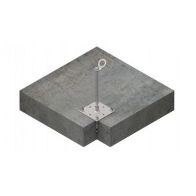 Столбик INNOTECH Quadrat 10 / сталь, бетон / h = 400 мм / без винтов/ EAP-QUAD-10-400 - Фото № 3