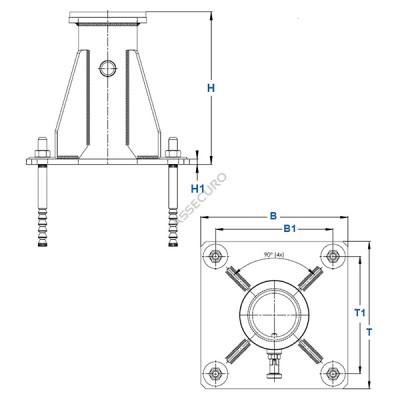 Крепление консольного анкерного устройства IKAR к полу/ AT4157/1 - Фото № 2