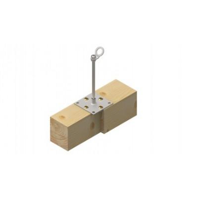 Столбик INNOTECH Quadrat 10 / сталь, бетон / h = 300 мм / без винтов/ EAP-QUAD-10-300 - Фото № 3