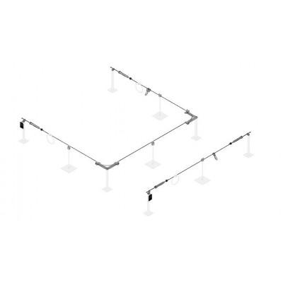 Стационарная тросовая система горизонтальной страховки INNOTECH ALLinONE AIO для бетонной поверхности - Фото № 2