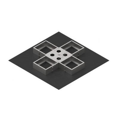 Анкерный пункт INNOTECH EAP-VARIO-15, фиксируется с помощью бетонных плит / комплект без бетонных плит / EAP-VARIO-15