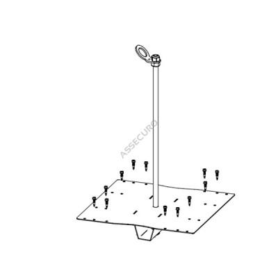 Столбик INNOTECH Quadrat 12 / для трапециевидного листа / h = 600мм / винты в комплекте/ EAP-QUAD-12-600 - Фото № 3