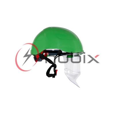 Каска HUBIX SECRA электроизоляционная со щитком / зеленая / H058/S/GR