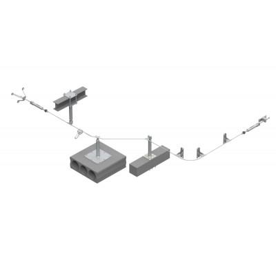 Стационарная тросовая система горизонтальной страховки INNOTECH ALLinONE AIO для бетонной поверхности - Фото № 1