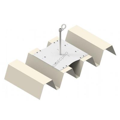 Столбик INNOTECH Quadrat 12 / для трапециевидного листа / h = 500мм / винты в комплекте/ EAP-QUAD-12-500 - Фото № 5
