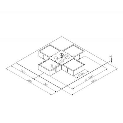 Анкерный пункт INNOTECH EAP-VARIO-15, фиксируется с помощью бетонных плит / комплект без бетонных плит / EAP-VARIO-15 - Фото № 2