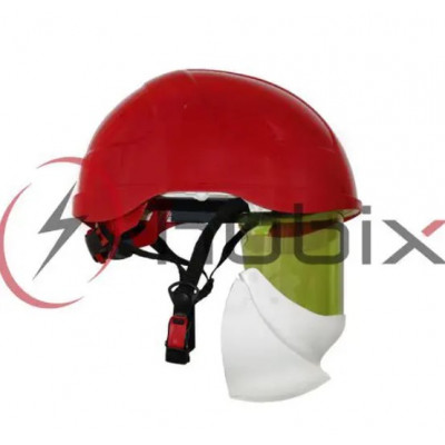Каска HUBIX SECRA электроизоляционная со щитком / красная / H058/S/R